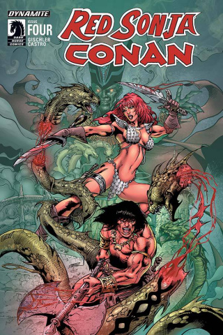 Red Sonja / Conan #4 (Subscription Cover)