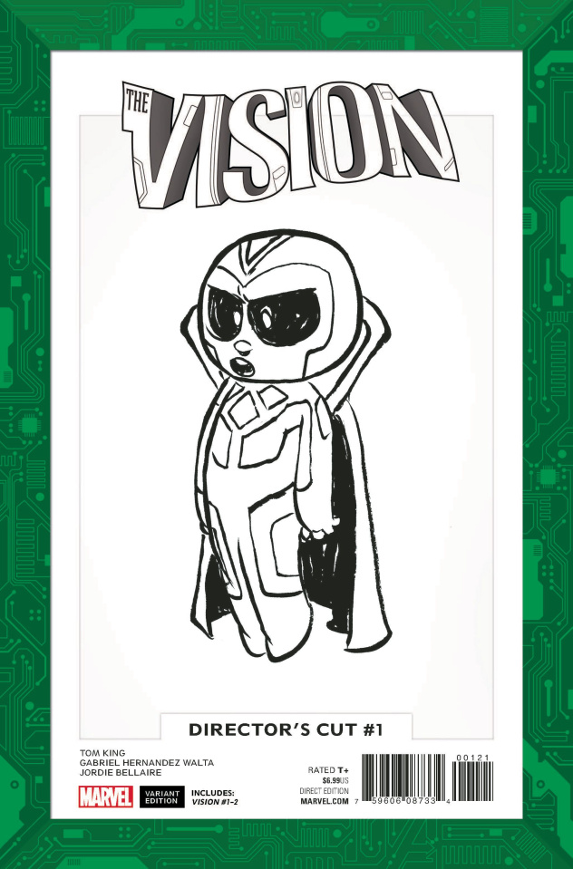 The Vision #1 (Director's Cut - Young B/W Cover)