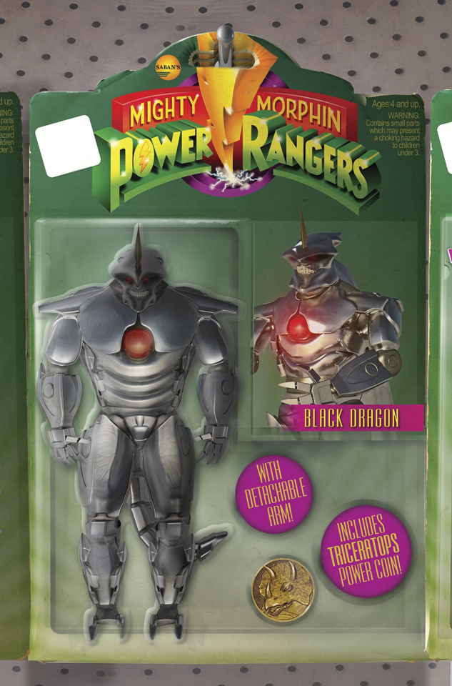 Mighty Morphin' Power Rangers #14 (Unlock Action Figure Cover)