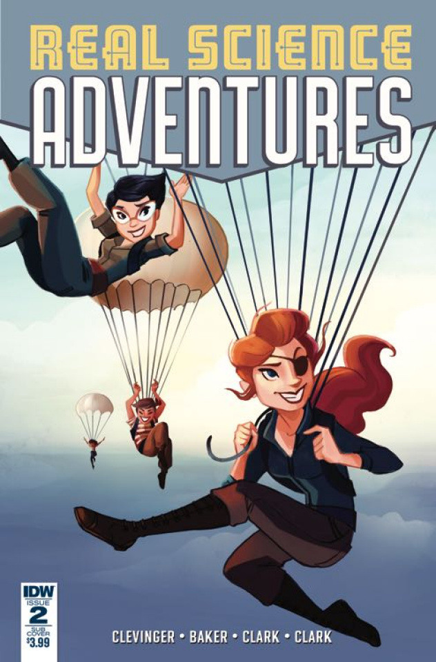 Real Science Adventures: The Flying She-Devils #2 (Subscription Cover)