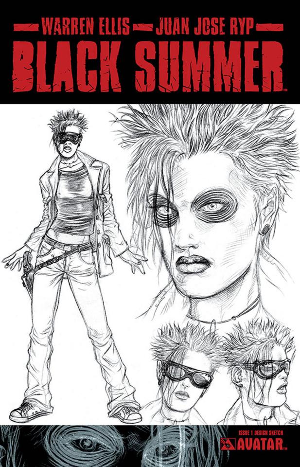 Black Summer #1 (Design Sketch Cover)