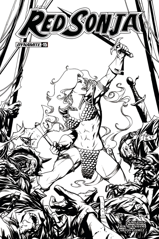 Red Sonja #15 (10 Copy McKone B&W Virgin Cover)