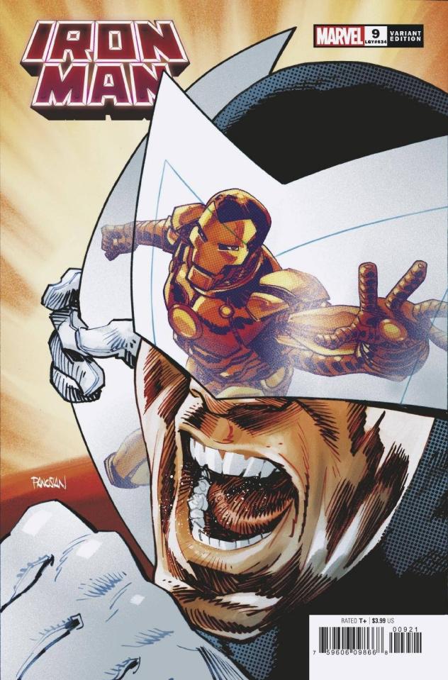 Iron Man #9 (Panosian Spider-Man Villains Cover)