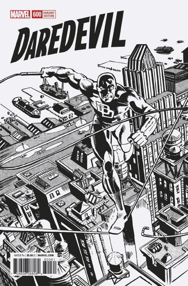 Daredevil #600 (Frank Miller Remastered B&W Cover)