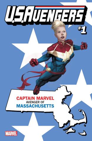 U.S.Avengers #1 (Reis Massachusetts State Cover)