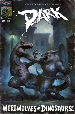 Werewolves vs. Dinosaurs #1 (Classic Pulp 3 Copy Cover)