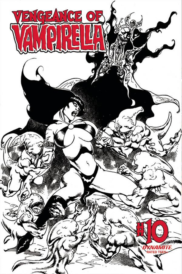 Vengeance of Vampirella #10 (11 Copy Castro B&W Cover)