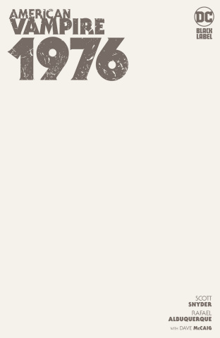 American Vampire: 1976 #1 (Blank Cover)