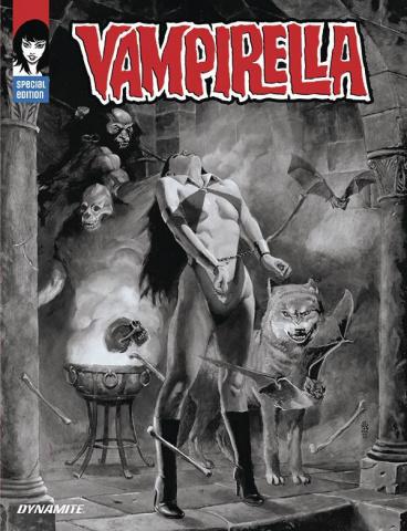 Vampirella (J.G Jones Trade Dress B&W Cover)