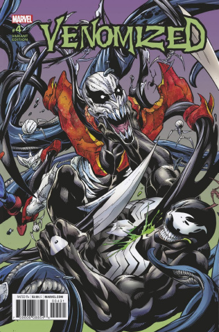 Venomized #4 (Bagley Connecting Cover)