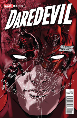 Daredevil #6 (Lopez Story Thus Far Cover)
