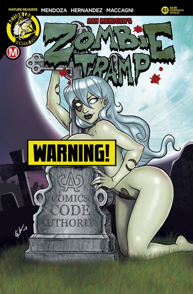 Zombie Tramp #61 (Harrigan Risque Cover)