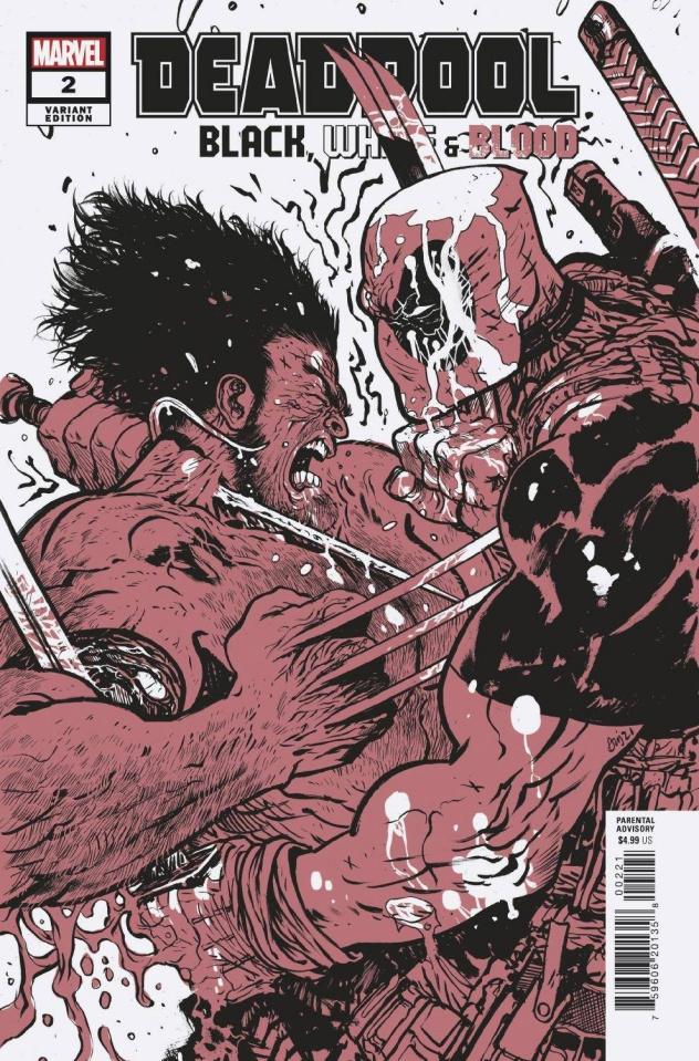 Deadpool: Black, White & Blood #2 (Johnson Cover)