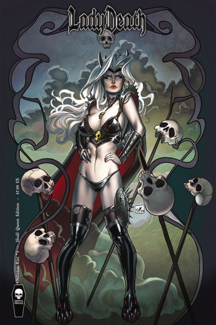 Lady Death: Oblivion Kiss #1 (Skull Queen Cover)