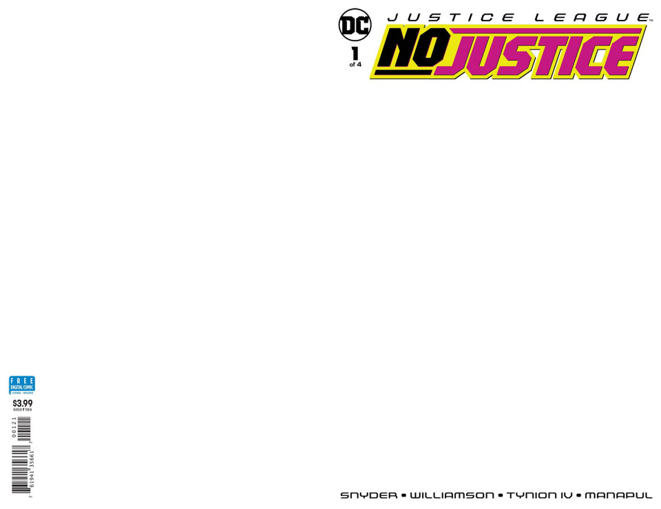 Justice League: No Justice #1 (Blank Cover)