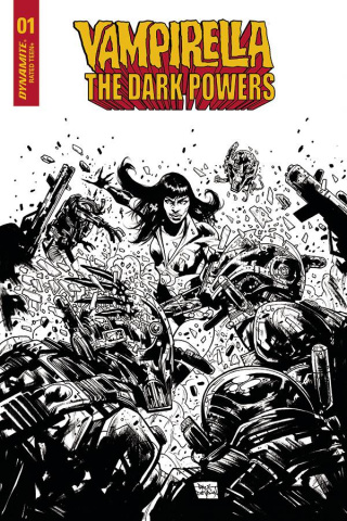 Vampirella: The Dark Powers #1 (7 Copy Davidson B&W Cover)