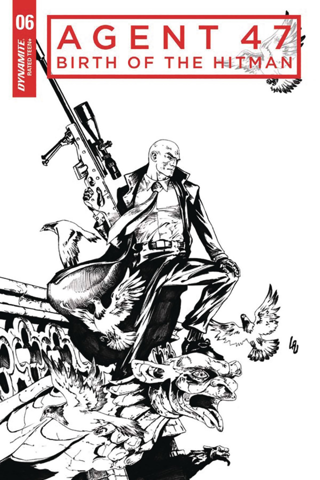 Agent 47: Birth of the Hitman #6 (10 Copy Lau B&W Cover)