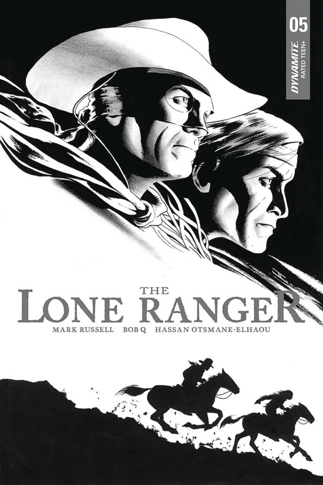 The Lone Ranger #5 (10 Copy Cassaday B&W Cover)