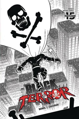 Black Terror #4 (30 Copy Level B&W Cover)