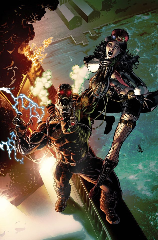 Grimm Fairy Tales: Van Helsing vs. Frankenstein #5 (Metcalf Cover)