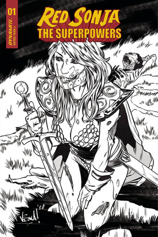 Red Sonja: The Superpowers #1 (15 Copy Federici Zombie B&W Cover)