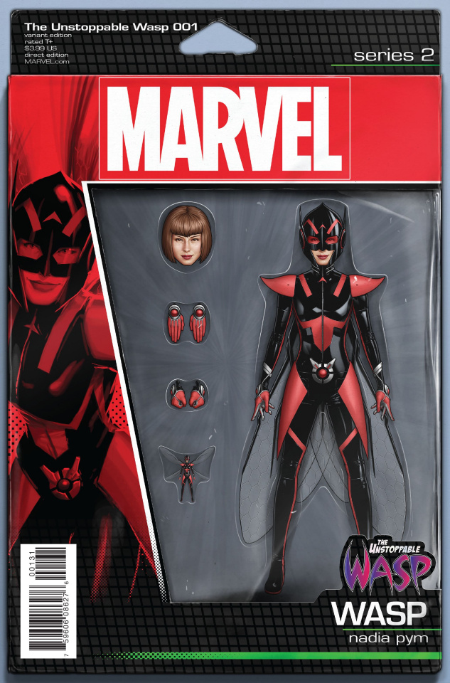 The Unstoppable Wasp #1 (Christopher Action Figure Cover)