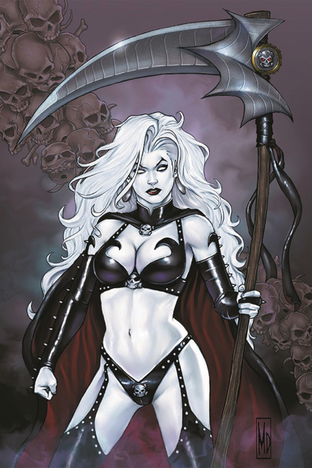 Lady Death Rules! (Signed with Print)