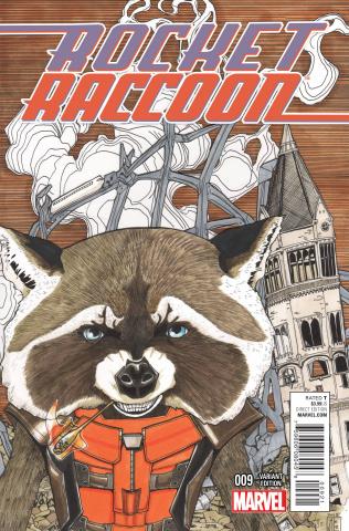 Rocket Raccoon #9 (Women of Marvel Cover)