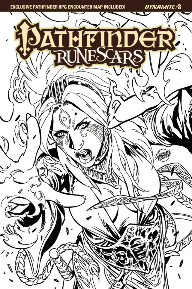 Pathfinder: Runescars #3 (20 Copy Borges B&W Cover)