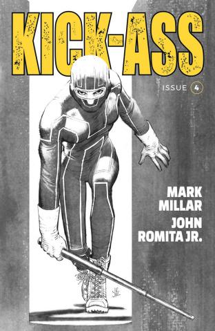 Kick-Ass #4 (B&W Romita Jr. Cover)