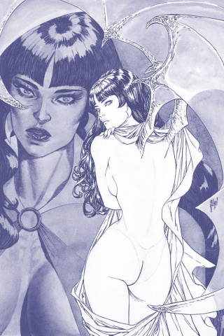 Vampirella #4 (25 Copy March B&W Tint Virgin Cover)