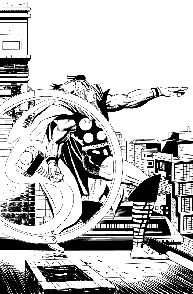 Thor #1 (Kirby B&W Remastered Cover)