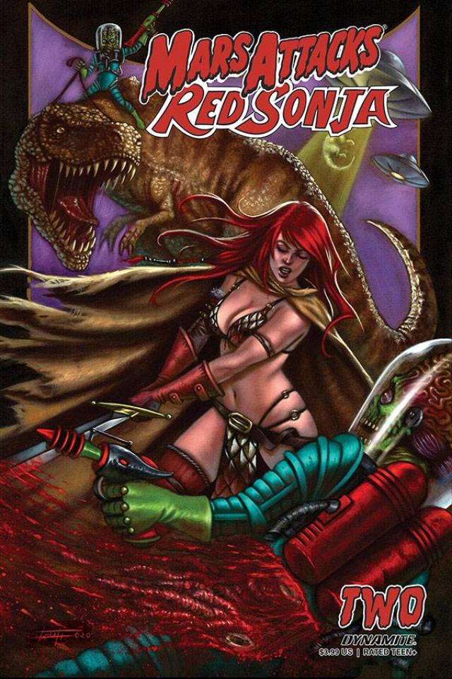 Mars Attacks / Red Sonja #2 (Strati Cover)
