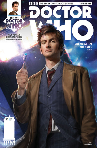 Doctor Who: New Adventures with the Tenth Doctor, Year Three #1 (Burns Cover)
