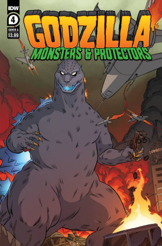 Godzilla: Monsters & Protectors #4 (Dan Schoening Cover)