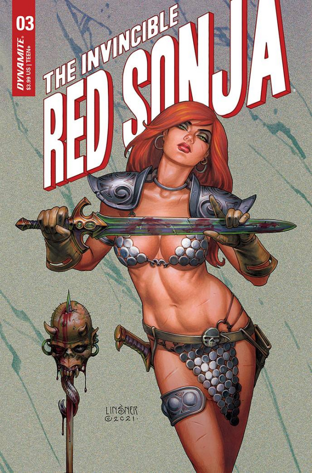 The Invincible Red Sonja #3 (Linsner Cover)