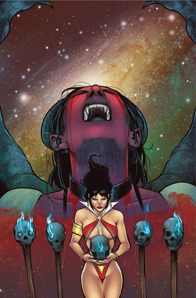 Vampirella vs. Purgatori #4 (Sarraseca Virgin Cover)