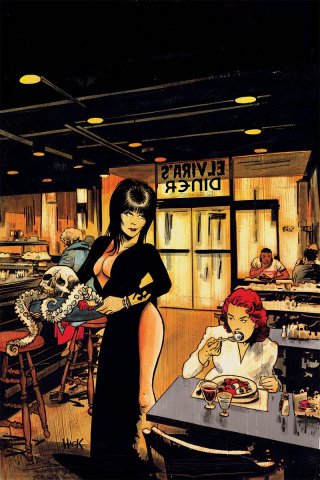 Elvira: Mistress of the Dark #4 (20 Copy Hack Virgin Cover)