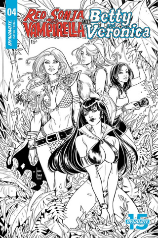 Red Sonja and Vampirella Meet Betty and Veronica #4 (20 Copy Braga B&W Cover)