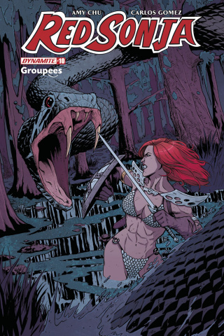 Red Sonja #10 (Groupees Cover)