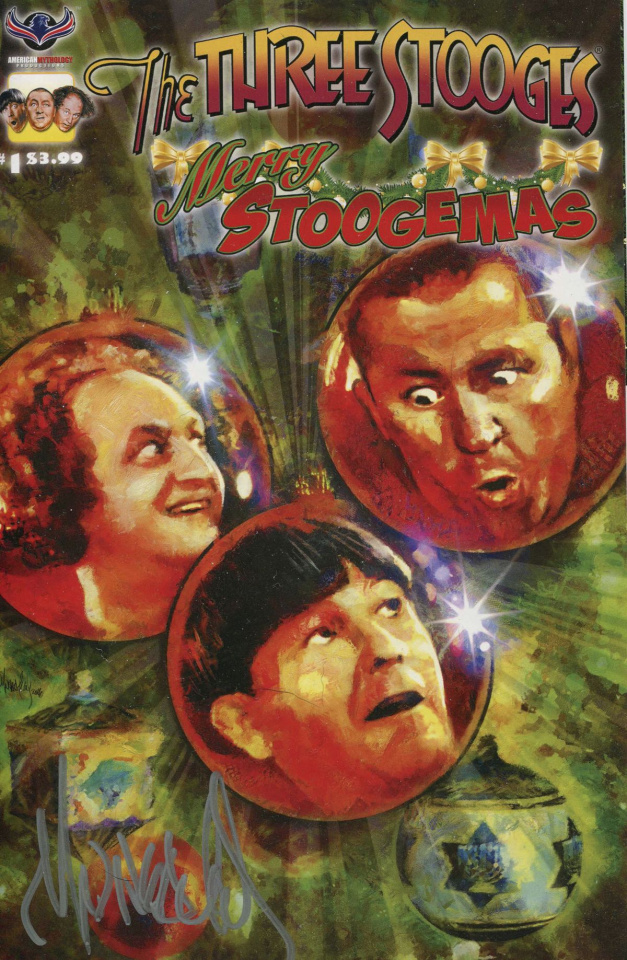 The Three Stooges: Merry Stoogemas (Signed Wheatley Cover)