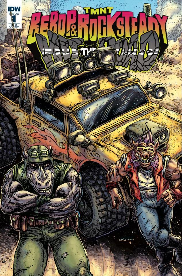 Teenage Mutant Ninja Turtles: Bebop and Rocksteady Hit the Road #1 (100 Copy Cover)