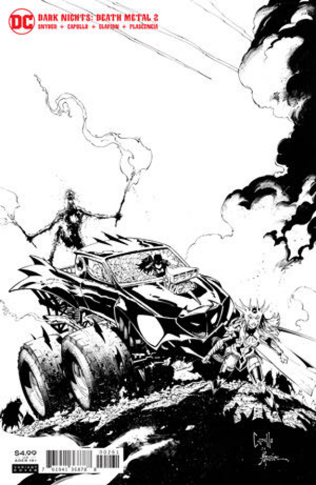 Dark Nights: Death Metal #2 (1:100 Greg Capullo B&W Cover)