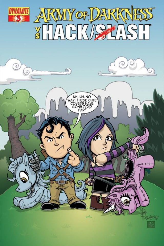 Army of Darkness vs. Hack/Slash #3 (Subscription Cover)