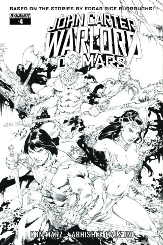 John Carter: Warlord of Mars #4 (20 Copy Benes B&W Cover)