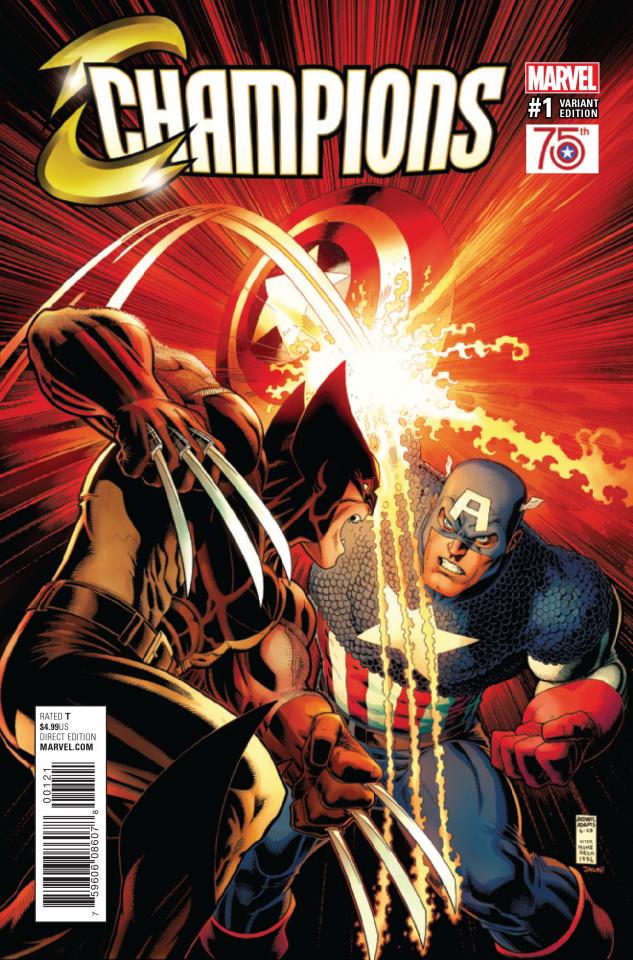 Champions #1 (Adams Captain America 75th Anniversary Cover)