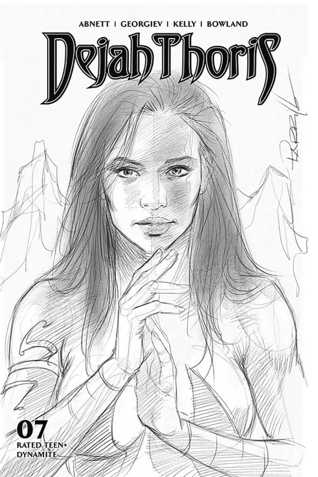 Dejah Thoris #7 (10 Copy Parrillo B&W Cover)