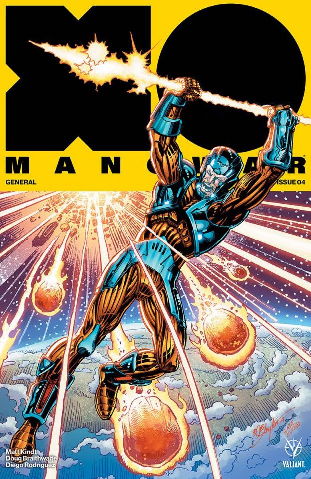 X-O Manowar #4 (Layton Cover)