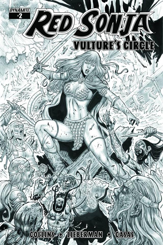Red Sonja: Vulture's Circle #2 (20 Copy Geovani B&W Cover)