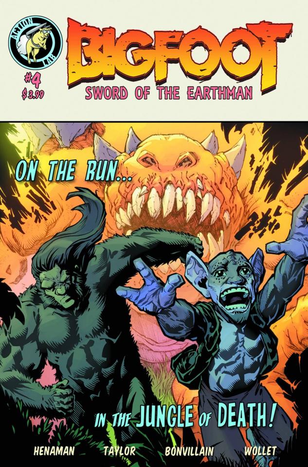 Bigfoot: Sword of the Earthman #4 (Taylor & Bonvi Cover)